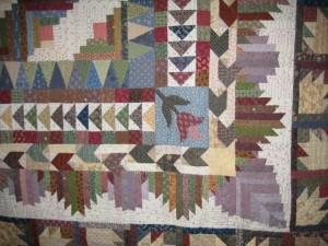 Corner block detail for MyStory quilt